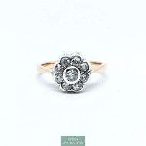 antik margaréta fazonú gyűrű gyémántokkal