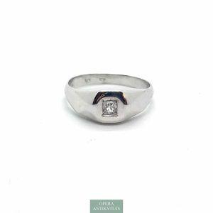 art deco arany gyűrű gyémánttal