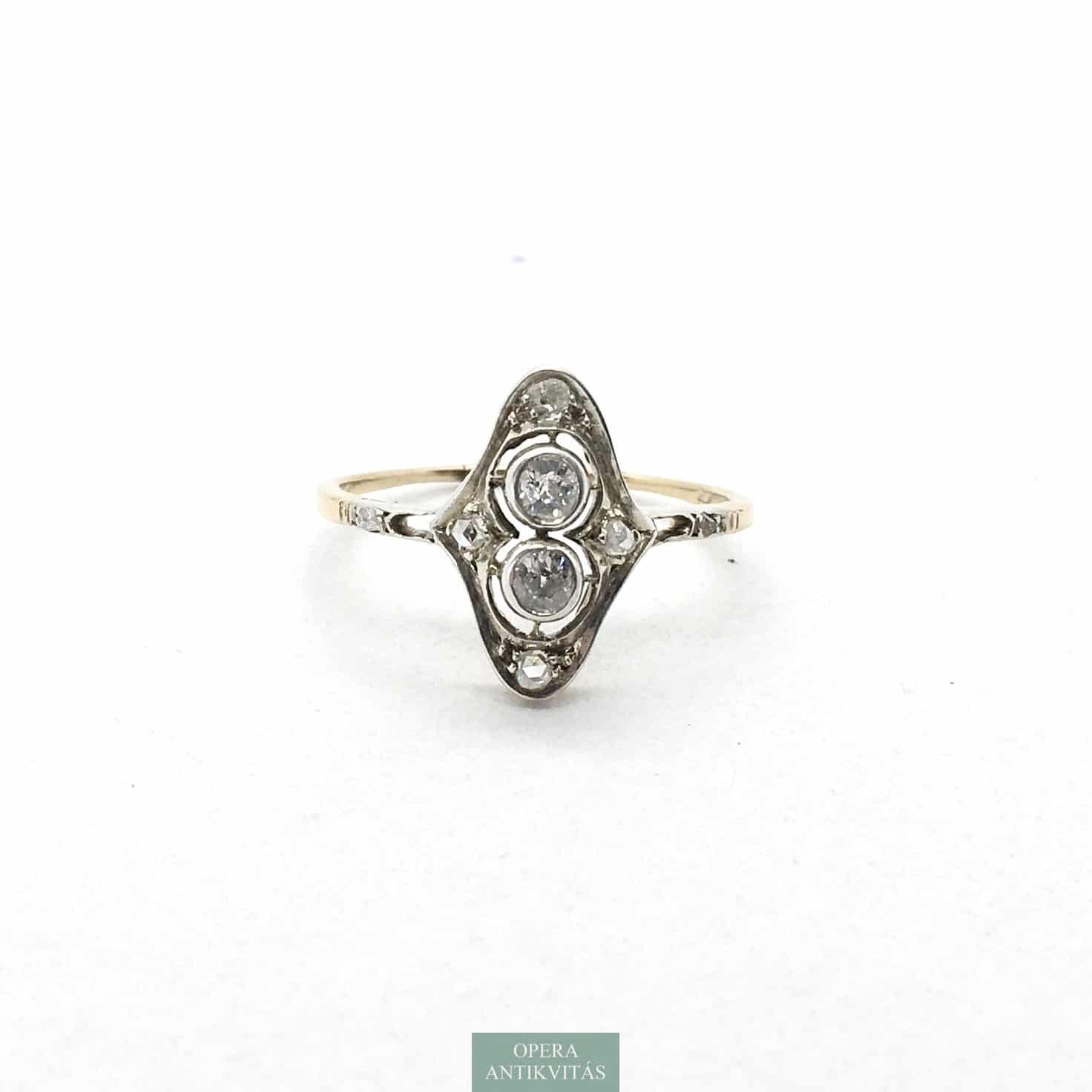 art deco gyűrű
