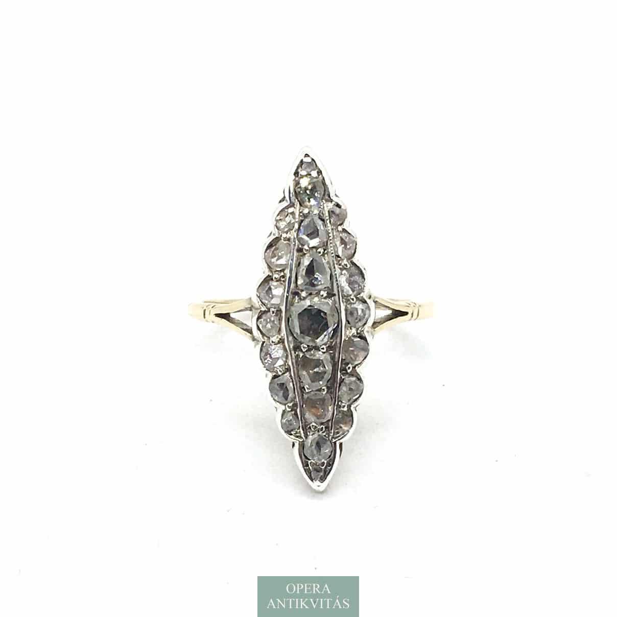 Art deco gyűrű gyémántokkal