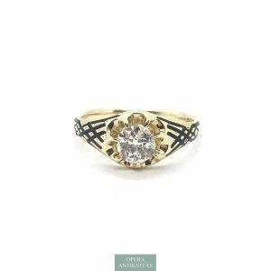 Antik szoliter gyűrű gyémánttal