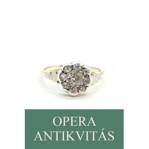 Art Deco arany gyűrű gyémántokkal