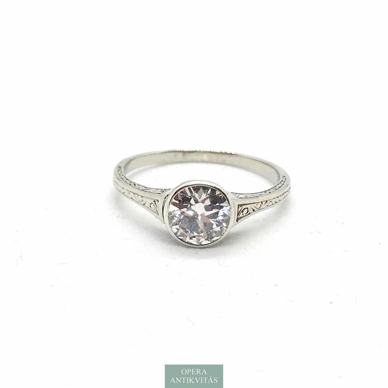 Fehérarany Szoliter Gyűrű Gyémánttal