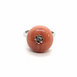 2959. Fehérarany Korall Gyűrű
