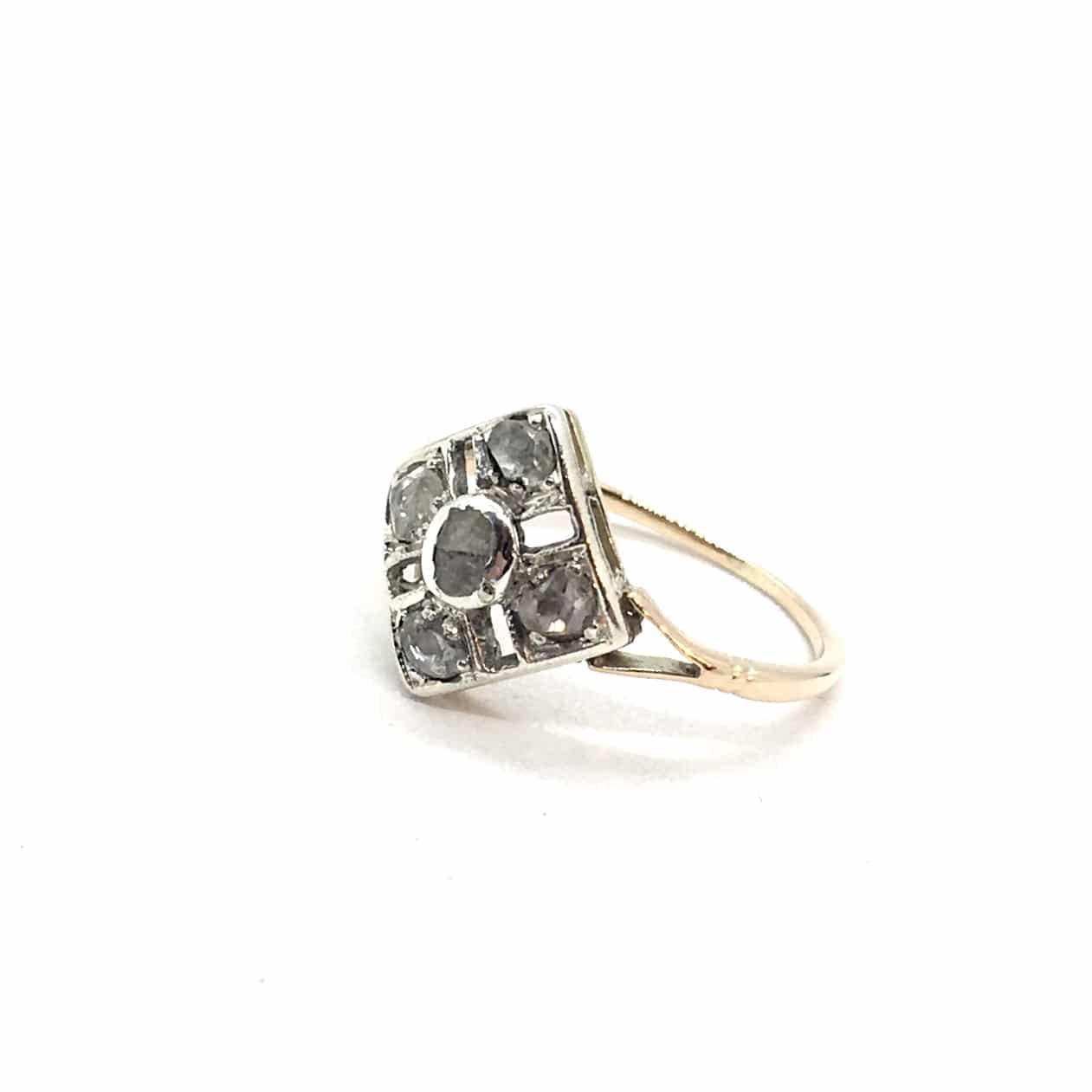 SF121. Art Deco Gyűrű Gyémántokkal