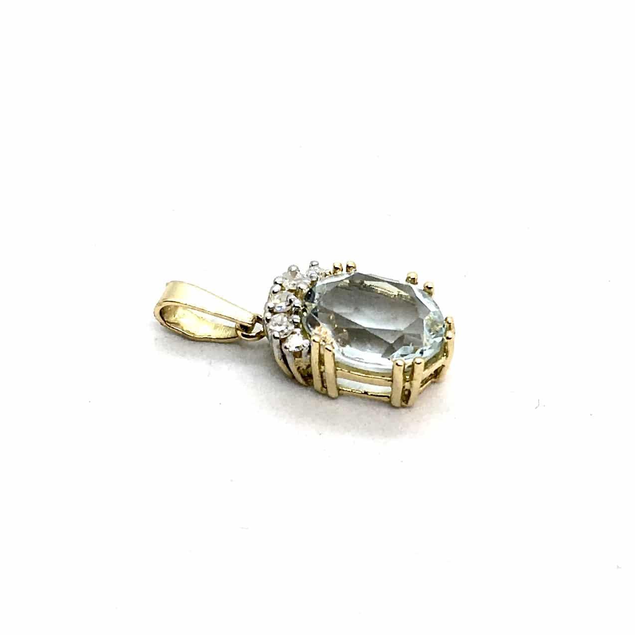 SF110. Arany Medál Gyémántokkal és Akvamarinnal