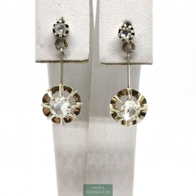 1018. Art Deco Earring with Old Cut Diamonds