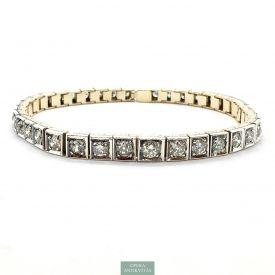 cbc19156a6 Art Deco Tenisz Karkötő Gyémántokkal c 5 ct